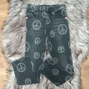 Girl's Disney D-Signed Peace Sign Jeans Small 7/8